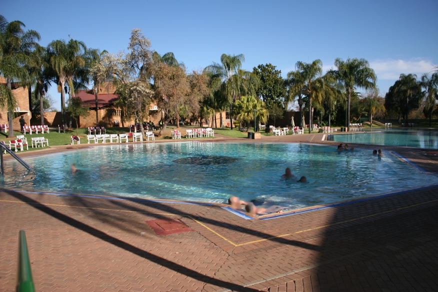 Heated pools at Wees Gerus resort, Nylstroom, South Africa