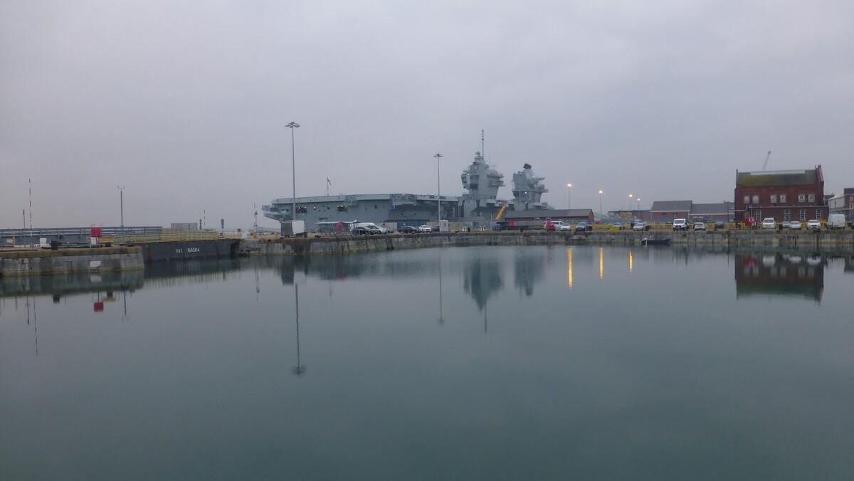 Liz docked at Portsmouth 1